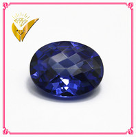best quality oval cut tanzanite facets synthetic cz cubic zirconia