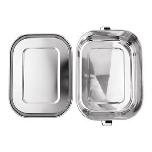 NI001 Stainless Steel Eco Lunch Box 1400ml Buckle Hook Silicone Seal Ring Leak Proof Hot Lunch Box
