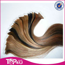 Wholesale unprocessed virgin remy indian hair indian remy tape hair extensions