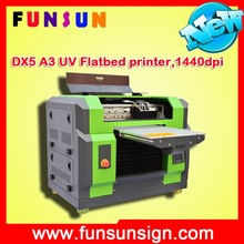 Funsunjet A3 SIZE DX5 head plastic rubber sheet printing machine UV printer