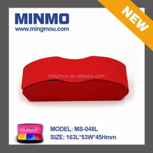 2014 new invention red pu handmade box, hot sell handmade glasses case