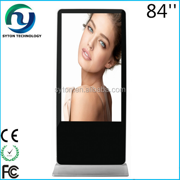 "New hot 58""Ultra full hd floor stand alone USB dustproof lcd screen mounted advertising display"