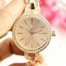 Gold chain strap watch for Girls student diamonds gift watch