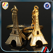 eiffel tower keychain,keychain manufacturers in china,cheap Gold-plated silver keychain/eiffel tower