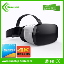 Good quality vr headset all in one rk3399 4k display vr 3d glasses