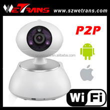 WETRANS 2016 Newest 10 meter IR Pan Tilt 1MP Wireless wired Indoor IP camera