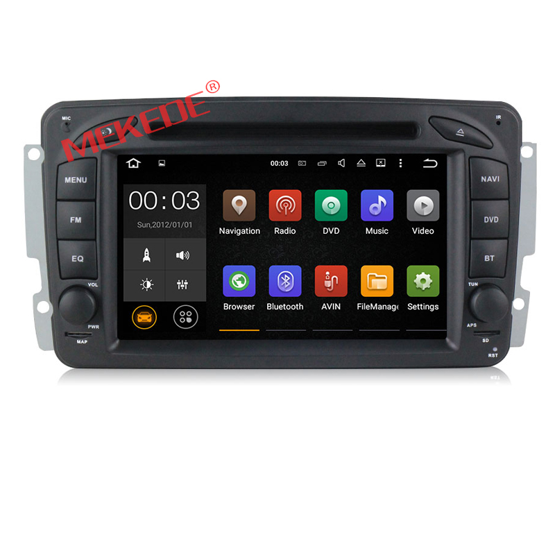 7'' HD Touch screen android 7.1 Car DVD Radio GPS Navigation For Mercedes B-enz W209 offer free map support wifi bluetooth