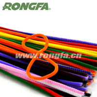 9mm x 50cm mixed color DIY craft pipe cleaners chenille stems