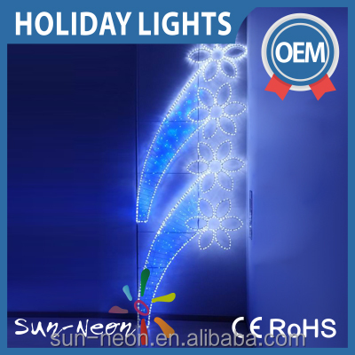 Outdoot Decor beautiful flowers motif light hot decorative led 2d motif light