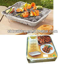 one time use bbq grill Instant grill disposable aluminium foil bbq grill pan