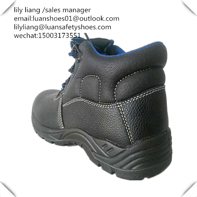 Brand new leather shoes steel toe cap boots coal mining safety equipment for whoesales