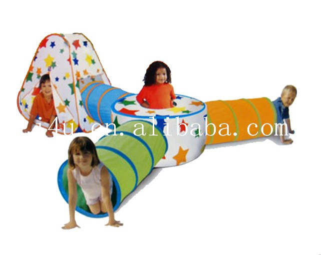 Kids outdoor Colorful Toy Tent with Tunnel Set