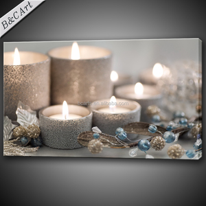 Best Price Famous Modern Prints Light up LED Candle Canvas Painting