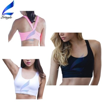 Wholesale V Back Design Padded Removable Sports Running Bra