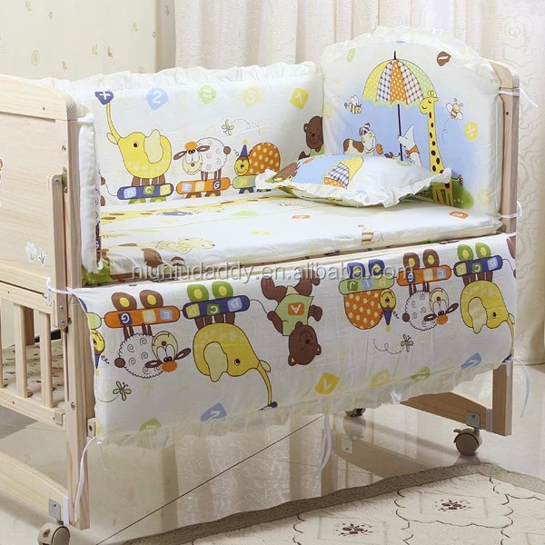Baby bedding sets 5PCS/SET baby bedclothes Cartoon crib bedding set include pillow bumpers mattress