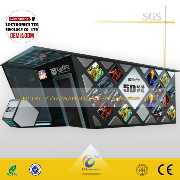 High quality Newest 5D 6D 7D 8D 9D cinema for game center from Wangdong