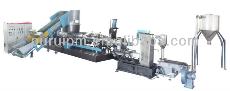 PP/PE film recycling line/film pelletizing line/recycling machine with agglomerator