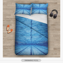3d digital zohra sublimation swimming pool design home decor cheap ready stock print latest bed sheet designs