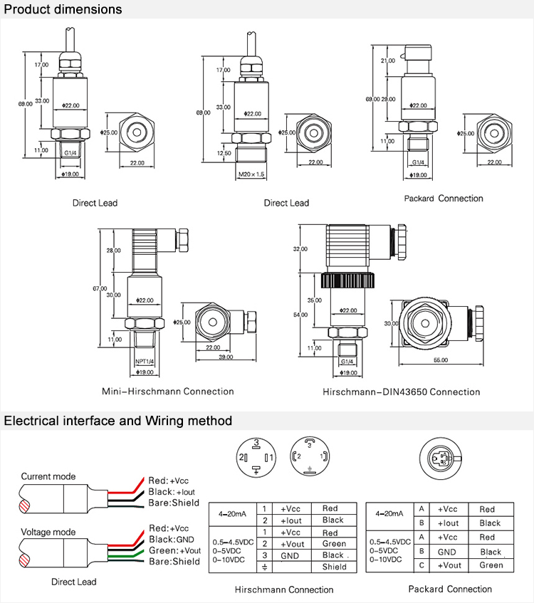 FST800-211A CE and RoHs certified factory general industrial gas and liquid pressure sensor
