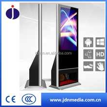 42Inch Floor stand indoor infrared touch screen ad advertising shoe polishing machine/digital signage
