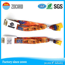 Latest design new style personal nfc custom woven nylon wristband for events
