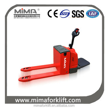 MIMA Mini Electric Pallet Truck powered pallet jack battery pallet truck hand jack with CE