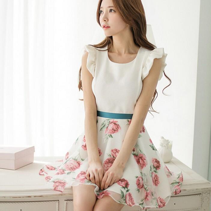 W91170a 2015 New Design Korean Style Fashion Dresses For