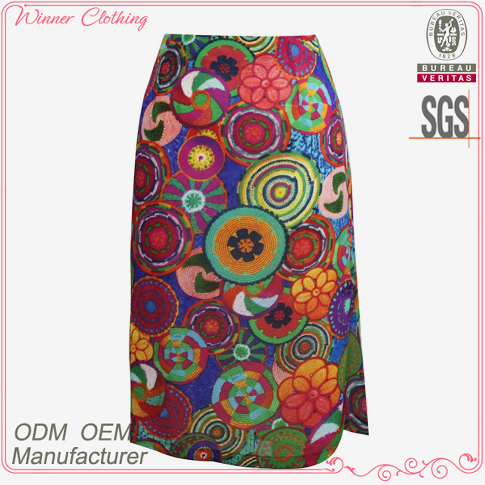Floral printed long skirts for women