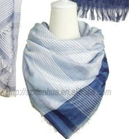 XH-891 100% cotton fashion 2012 blue and white scarf