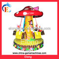 Amusement park White rabbit mushroom kids rider carousel