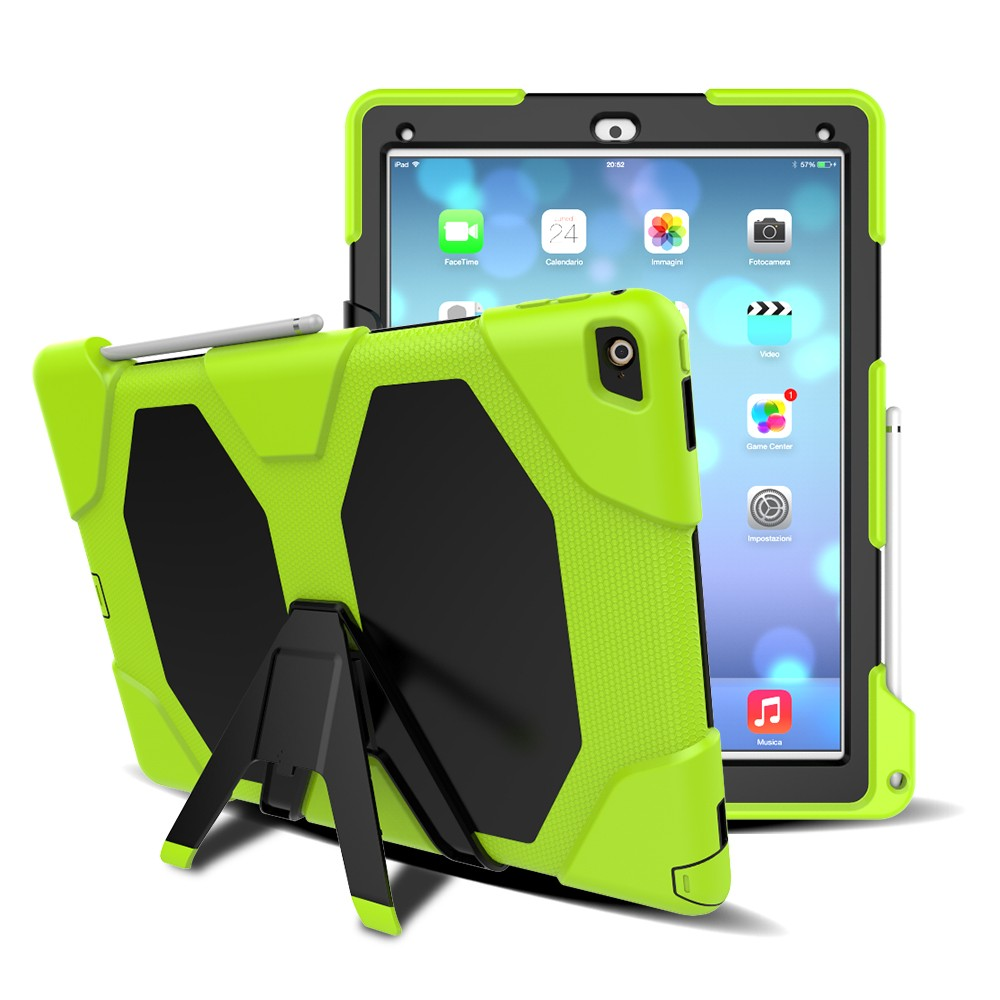 Best Selling Heavy Duty Hybrid Robot Kickstand Tablet Case For iPad Pro 9.7 Inch
