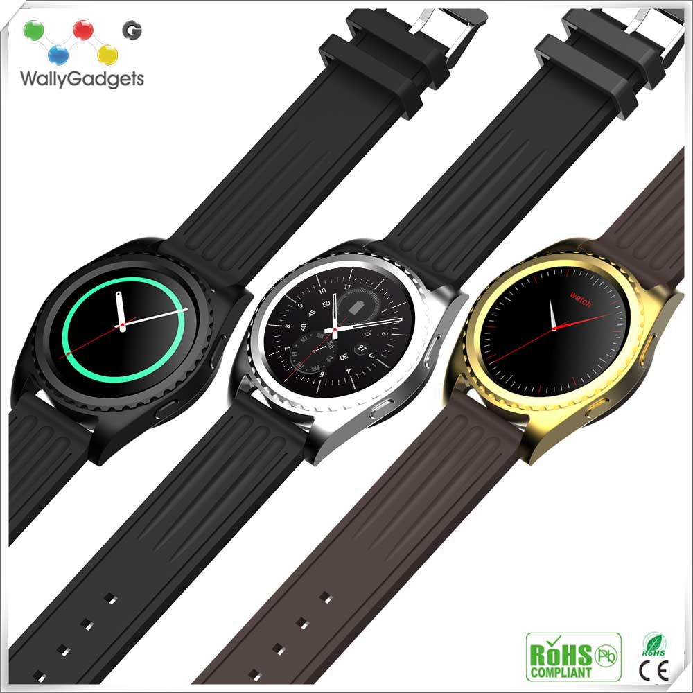2016 Innovative Multi function products Support Bluetooth music play SMS Pedometer smart watch phone manual