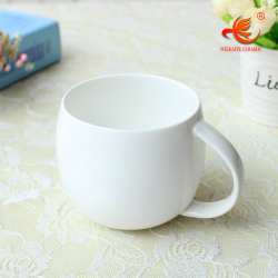 WKTM001W wholesale 11oz bone china porcelain factory cute coffee ceramic blank plain white mug