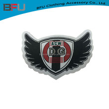 Custom high quality woven clothing label patch for jacket