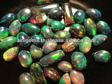 Black Ethiopian opal treated lot calibrated play of color , gemstones, cabochon semi precious stones, beads