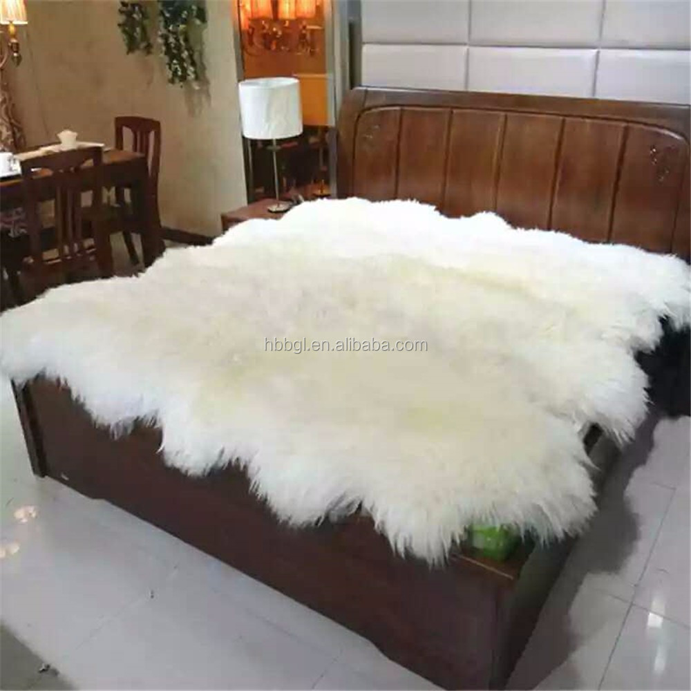 Australian wool carpet fur one piece living room coffee table bed rug plum blossom blanket sheepskin carpet Round Sheepskin Rugs