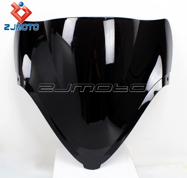 100% Guaranteed Brand New Unique Cool Black Motorcycle Black Diamond Shape Windscreen/Windshield Fit for Universal Motorcycle