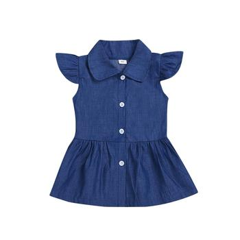 Frock design wholesale children boutique clothes girls princess dress ruffle cotton summer baby girls dresses