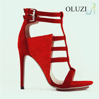 OU1 Succinct beautiful strappy dress shoes Latest ladies shoes and high heel sandals Ladies summer shoes and sandals