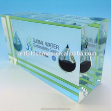 new design of Acrylic paper weight/acrylic embedment/Acrylic name plate