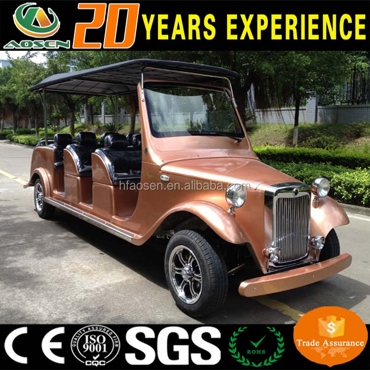 Chinese elegant hotel 12 passenger electric classic cars for sale