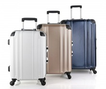 wholesales factory price high quality aluminium trolley hard case/trolley bag (DC-7126)
