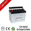 korean quality n60 60ah 12v dry charge automotive car battery at best price