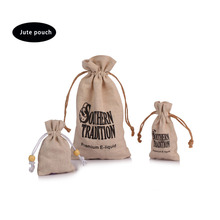 2017 wholesale new product Hessian jute sand bag drawstring gift hessian bag