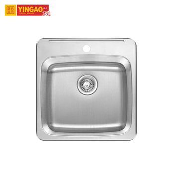 Modern High Quality Standard Single Bowl Portable Stainless Steel Kitchen Sink with CUPC Certificate