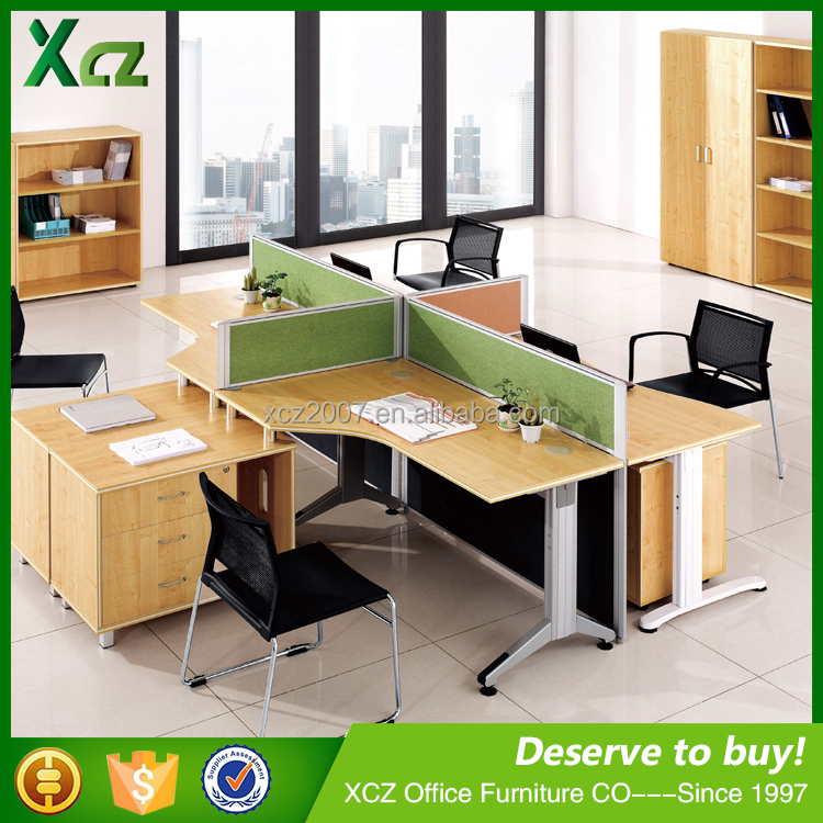 China office furniture latest design office cubicles for 4 for Latest design office furniture