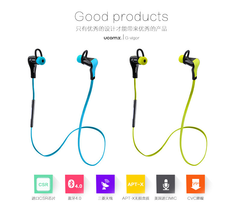 2015 High quality low price bluetooth Sports Earphones & headphones, Stereo Headset Earphones Headphones
