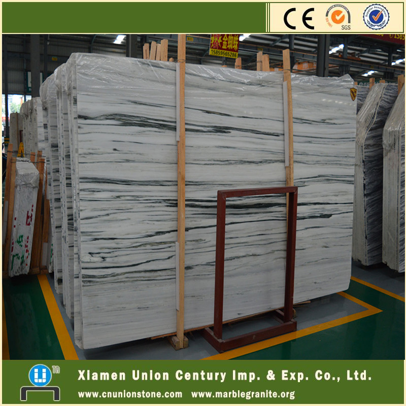 Elegant Jade wood white marble slab price