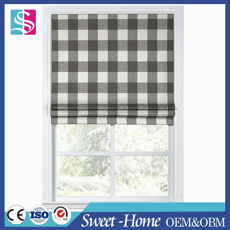 window covering fabric sheer roman shade in standard size