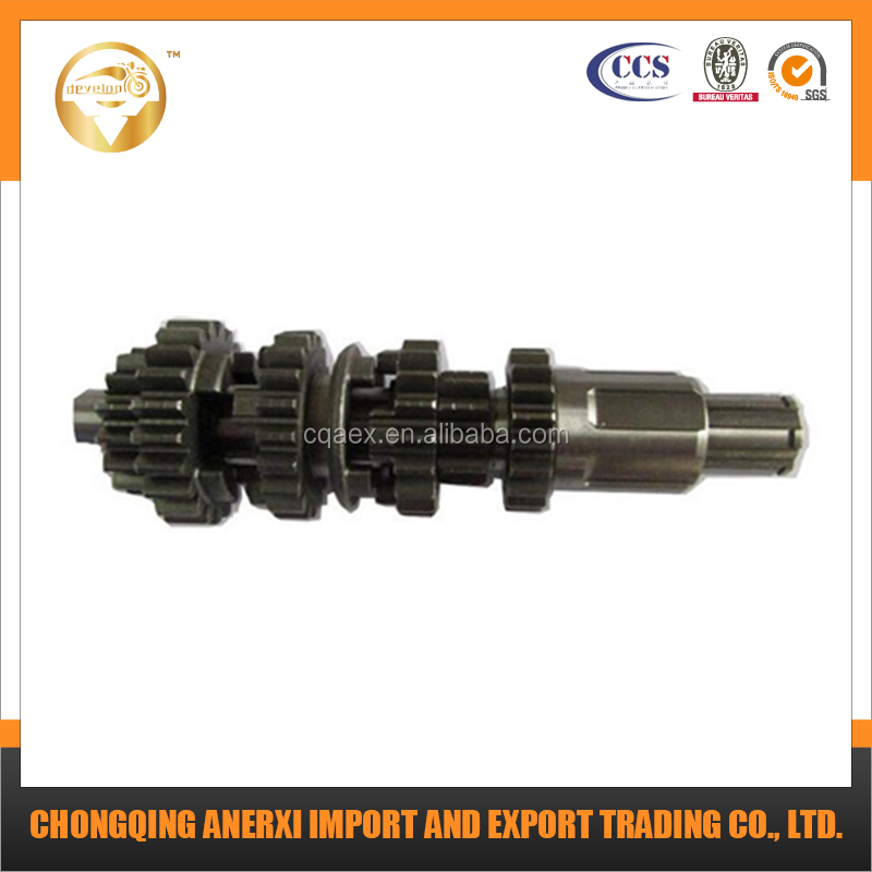 Engine parts Wholesale CG200cc hobbing process prime quality motorcycle engine with reverse gear main shaft